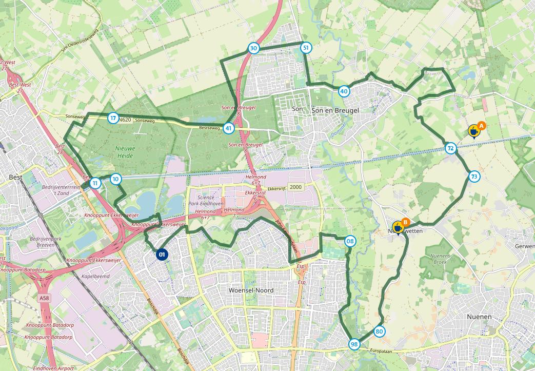 De Bekenroute (Nederland, Noord-Brabant, Eindhoven, Best)